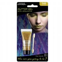 Gold 14ml Glitter Tube & Applicator